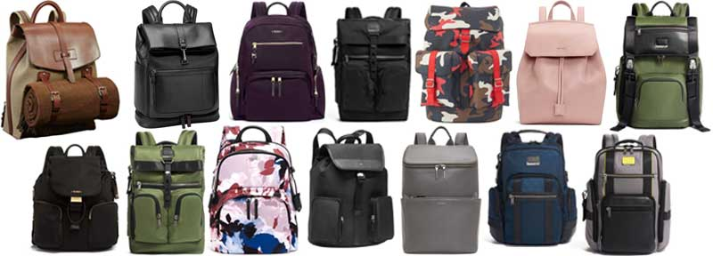 Backpack selection