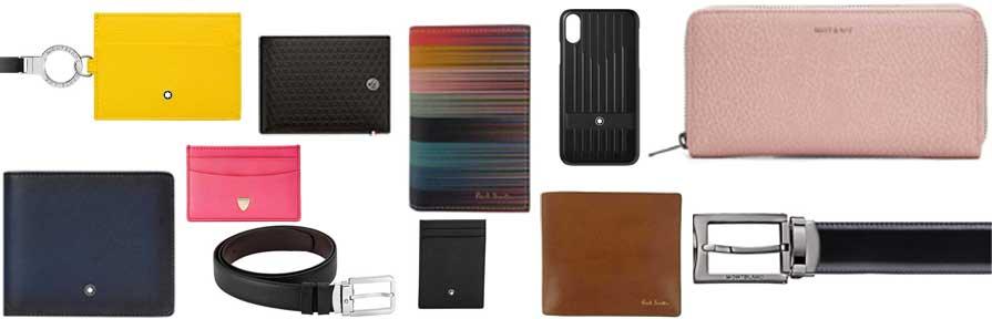 Leather Wallets, Cardholders & Belts