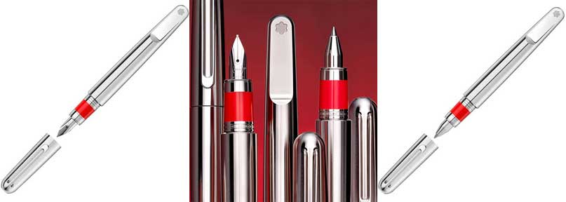 Montblanc x Marc Newson (RED) Rollerball and Fountain Collection