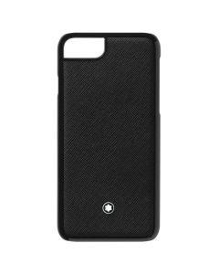 The Montblanc Meisterstück saffiano black leather iPhone 8 hard phone case.