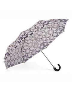 The Aspinal of London Marylebone Monochrome Compact Umbrella