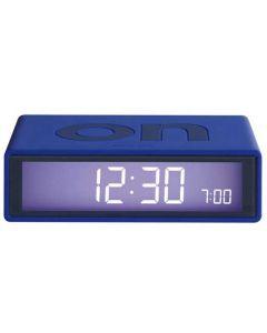 The Lexon Flip Alarm Clock Blue