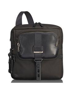 The TUMI Alpha Bravo Black Arnold Expandable Flap Messenger Bag
