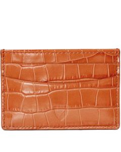 This is the Aspinal of London Mock Croc 4CC Marmalade Card Holder.