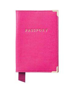 Silk Lizard Penelope Pink Passport Cover