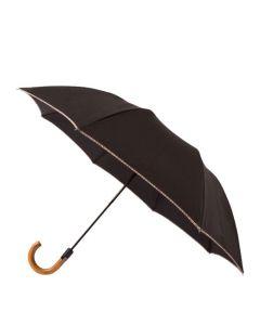 The Paul Smith Black Signature Stripe Wooden Handle Umbrella