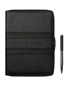 The Hugo Boss Black Tire A4 Conference Folder and Rollerball Pen Set.