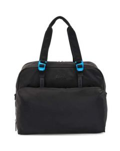 This is the BOSS Krone Black Soft Holdall.