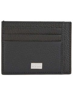 This is the BOSS 6CC Crosstown Black Soft Grain Card Holder.