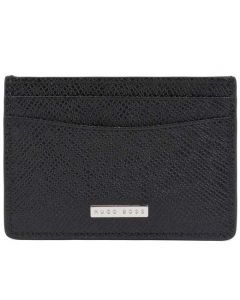 This is the BOSS 2CC Black Signature Card Holder with Money Clip.