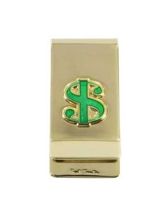 The Paul Smith,  Zinc Plated Dollar Sign Money Clip has been finished with a high shine and statement motif