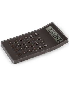 The Lexon, Mastercal Brown aluminium & Clear Resin Desktop Calculator is perfect for any busy office or students needing a little extra help with your calculations. Lightweight and slender, crafted from brushed brown aluminium and clear set acrylic. A lar