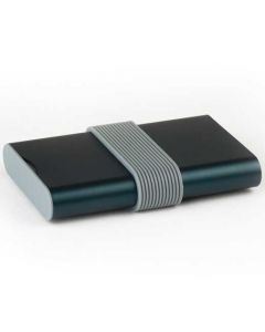 The Lexon, Fine Blue Aluminium Power Bank is ideal for out and about charge. Featuring a slide release charge port, single cable and elastic band storage this handy power bank is ideal for home, work and out and about use.