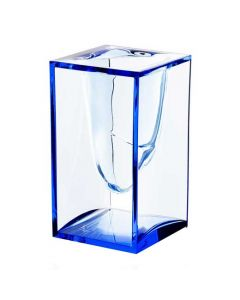 The Lexon, Liquid Blue Acrylic Pen Pot. Formed from a single piece of PMMA blue crystal acrylic. Part of the Liquid range, designed by Eugeni Quitllet.