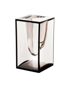 The Lexon, Liquid Grey PMMA Acrylic Pen Pot. Part of the Liquid Desk accessories Range, designed by Eugeni Quitllet.