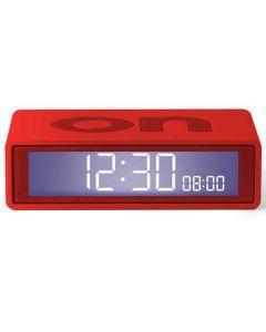 The Lexon Flip Travel Alarm Clock Red