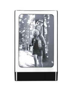 The Georg Jensen, Stainless Steel and Plastic Cube Photo Frame has been crafted from the finest modern materials.