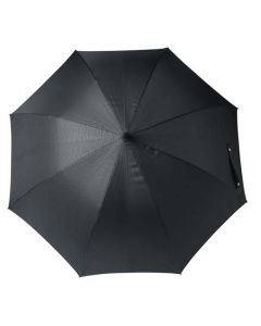 The Hugo Boss Grid Pattern Black Golf Umbrella with black nylon canopy