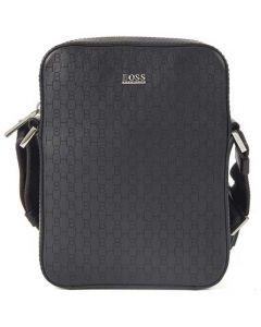 The Hugo Boss Black Lasered Monogram Reporter Bag