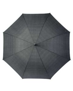The Hugo Boss, Illusion Gey Umbrella features a wide canopy giving you full body coverage when facing the dreary weather in style.