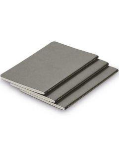 The LAMY Softcover Set of 3 Paper Booklets Grey A5