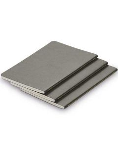 The LAMY Softcover Set of 3 Paper Booklets Grey A6