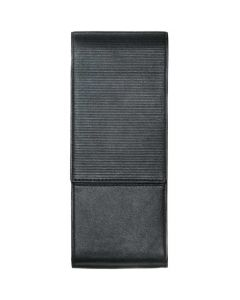 LAMY Pen Case, 3 Pens, Embossed Black Leather.