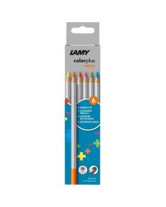 These are the LAMY Pack of 6 Colourplus Neon Pencils.