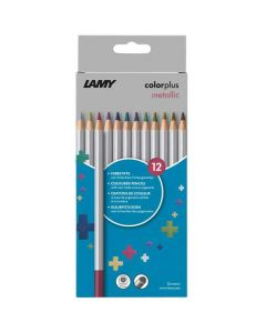 These are the LAMY Pack of 12 Colourplus Metallic Pencils.