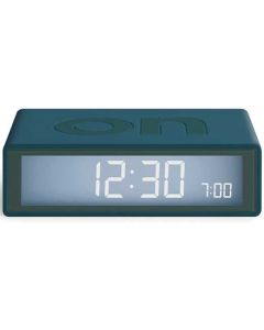 The Lexon Flip Travel+ Duck Blue Alarm Clock with electroluminescent display