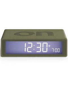 The Lexon Flip + Alarm Clock Khaki