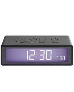 The Lexon Flip Alarm Clock Gunmetal Grey