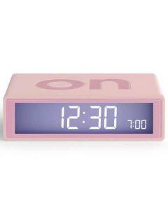 The Lexon Flip Alarm Clock Pink