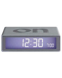 The Lexon Flip Alarm Clock Silver