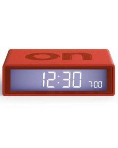 The Lexon Flip Alarm Clock Red