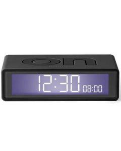 The Lexon Flip Travel Grey Alarm Clock Dark