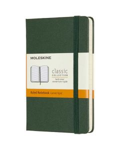 This is the Moleskine Pocket Classic Collection Green Hard Cover Ruled Notebook.