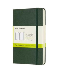 This Moleskine Green Leather Notebook comes with an elastic band closure to keep it secure.