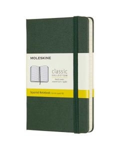 This is the Moleskine Pocket Classic Collection Green Hard Cover Squared Notebook.