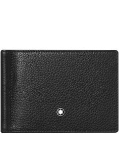 This is the Montblanc Meisterstück Soft Grain 6CC Black Wallet with Money Clip.