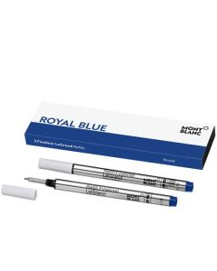 These are the Montblanc LeGrand Broad Royal Blue Fineliner Refill.