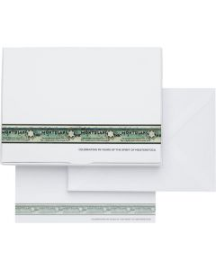 Montblanc Meisterstuck 90 years greeting cards with envelopes.