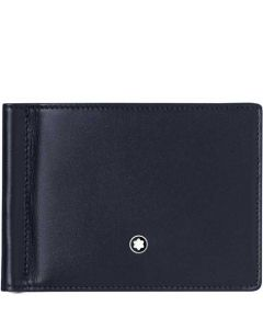 This is the Montblanc Degradè Navy Meisterstück 6CC Wallet with Money Clip.