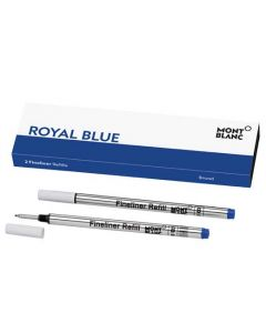 Montblanc pack of 2 royal blue broad fineliner pen refills.