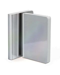 nuuna, Metallic Artificial Leather Notebook, Grey Pearl, Pearl Collection.