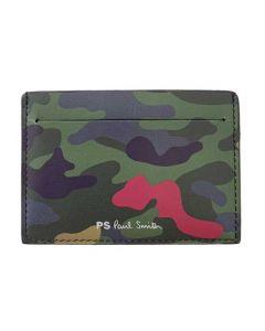 This is the Paul Smith Camo Print Khaki 3CC Card Holder.