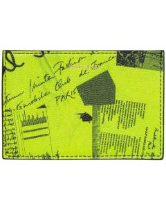 This is the Paul Smith Show Collage 2CC Lime Green Card Holder.
