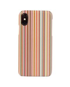 The Paul Smith Multi Stripe Textured Leather iPhone X Case