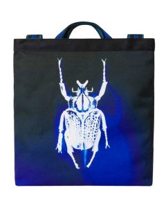 The Paul Smith Navy Photographic Beetle Print Recycled Polyester Tote