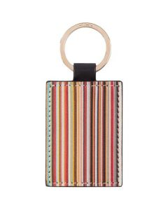 This is the Paul Smith Leather Signature Stripe Keyring.